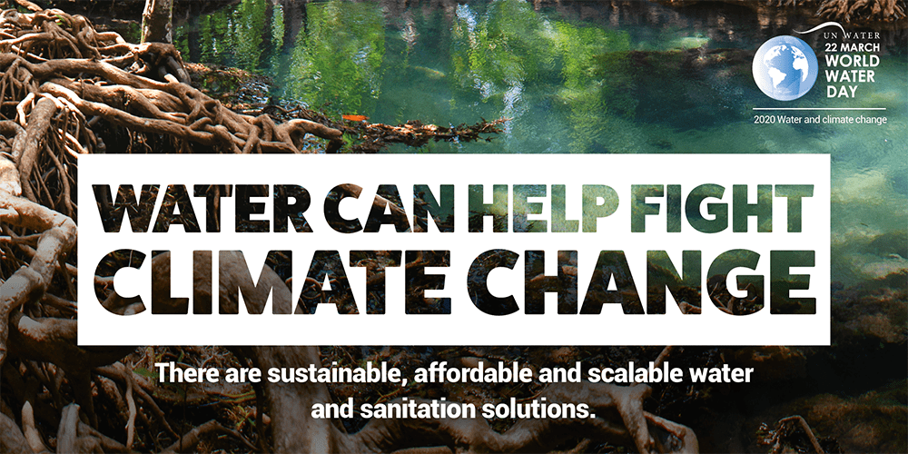 Water can help fight climate change.