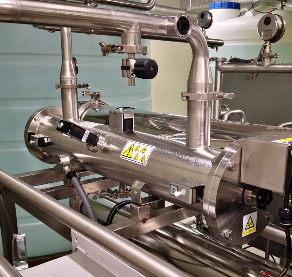 "Berko Pharmaceuticals are developing products to contribute to human health with a ""towards a healthier future"" vision for more than 30 years. In June 2019 they installed a PharmaLine DC PH 0300 for de-chlorination. The unit is used for continuous de-chlorination of a Pure Water Generator. The unit is sized for up to 12 m3/h with 2 log free chlorine reduction. Since then the system has been working smoothly 24/7. Their de-chlorination process used to have a sodium meta bisulfite dosing system (MSBS) with an ORP control. The ORP based MSBS system is generally not very reliable because of three reasons; ORP systems can show fluctuations and measurement errors. The MSBS concentration and the reaction time for removal of free chlorine can be unstable. Moreover, because of MSBS dosing, the microbiological load can dramatically increase during medium to long term periods. Other known problems with MSBS: • Maintenance of dosing equipment; • Handling and documentation of hazardous material; • Scaling of RO membranes; • Potential formation of sodium sulfate, which acts as a stimulant sulfate-reducing bacteria; • Odour and taste implications. Using UV instead of MSBS has none of the above drawbacks. Case Story UV De-chlorination for Pharmaceuticals"