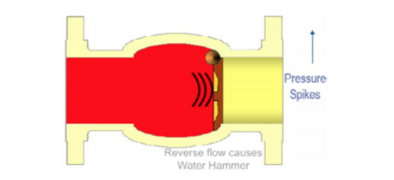 Reverse flow causes Water Hammer